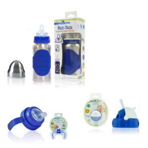 Pack Biberon Isotherme évolutif 0-5 Ans – 200 Ml – Inox BLEU