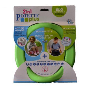Pot Nomade Et Réducteur De Toilettes POTETTE PLUS – Vert (2017)