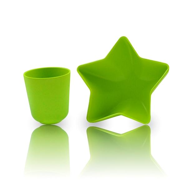 Bol-étoile-et-tasse-vert-bambou-pacific-baby