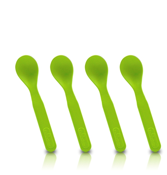 Pack-4-cuillères-bambou-pacific-baby-vert