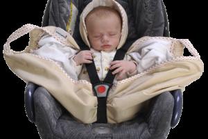 Couverture-emmaillotage-crème-snugglebundl-dans-siège-auto