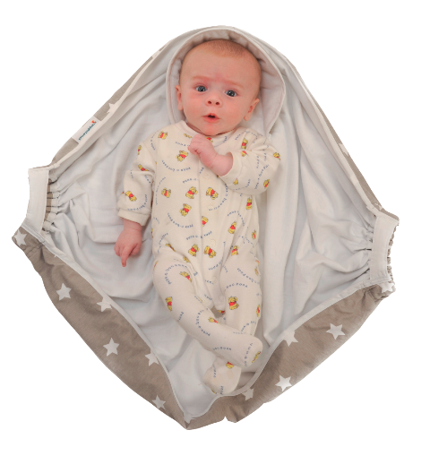 bébé et couverture Couverture bébé d'emmaillotage avec poignées – gris étoiles  bébé et couverture