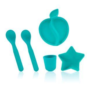 Kit Vaisselle Enfant En Bambou – Bleu