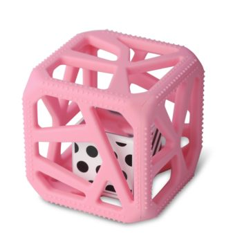 Hochet Cube De Dentition Facile à Agripper –  Rose