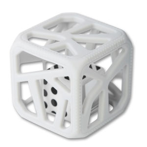 Hochet Cube De Dentition Facile à Agripper –  Gris Clair