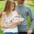 Couverture Emmaillotage Blanches Motifs Noirs Snugglebundl Avec Parents