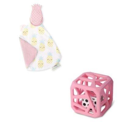 Pack Cadeaux Doudou Et Cube De Dentition ANANAS