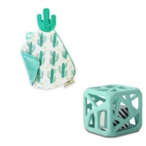 Pack Cadeaux Bébé Doudou Et Cube De Dentition CACTUS