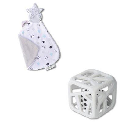 Pack Cadeaux Doudou Et Cube De Dentition ETOILES