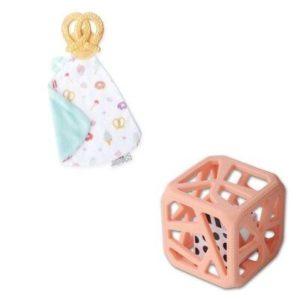 Pack Cadeaux Bébé Doudou Et Cube De Dentition SUCRE SALE